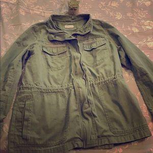 Women's XL Army Green Jacket By Merona